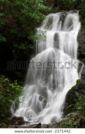 Cataract Falls in Great Smoky Mountains National Park Tennessee - stock photo
