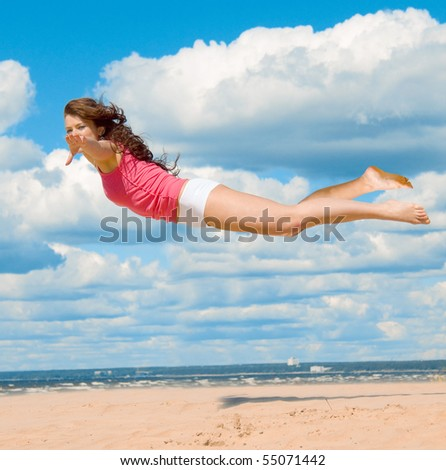 Catching the wind - stock photo