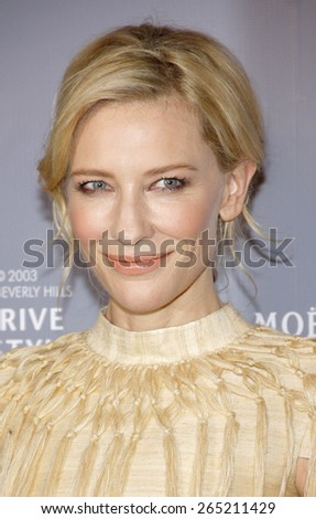 Cate Blanchett at the Rodeo Drive Walk Of Style honors Catherine Martin held at the Greystone Mansion in Los Angeles, United States, 02/28/2014.  - stock photo