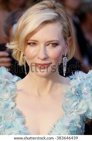 Cate Blanchett at the 88th Annual Academy Awards held at the Hollywood & Highland Center in Hollywood, USA on February 28, 2016. - stock photo