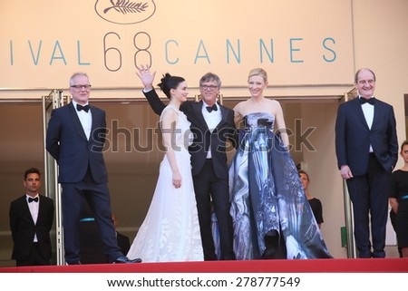 Cate Blanchett attends the 'Carol' Premiere during the 68th annual Cannes Film Festival on May 17, 2015 in Cannes, France. - stock photo