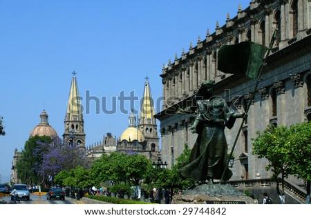 Catedral church in Guadalajara, Jalisco, mexico - stock photo