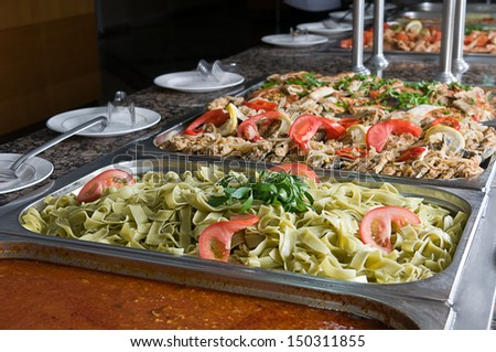 Catering food at a restaurant - stock photo