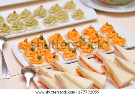 Catering food closeup  - stock photo