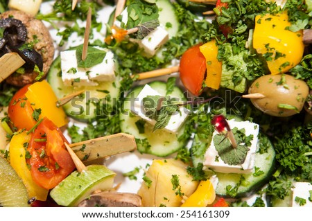 Catering food decorated - stock photo