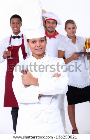 Catering professionals - stock photo