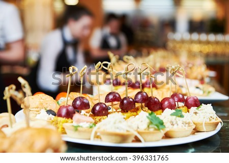 Catering service. set table  - stock photo