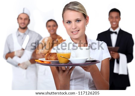 Catering staff - stock photo