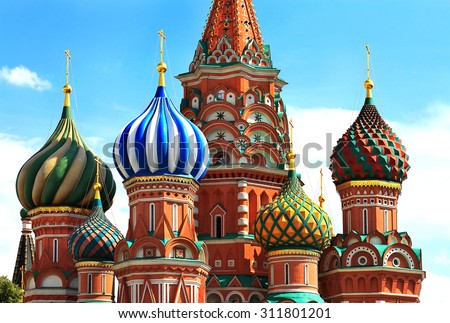 Cathedral  built in the sixteenth century in the ancient russian style - stock photo