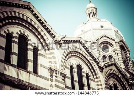 Cathedral de la Major, Marseille, France - stock photo