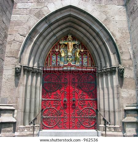 Cathedral Door - stock photo