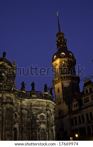 cathedral dresden - stock photo
