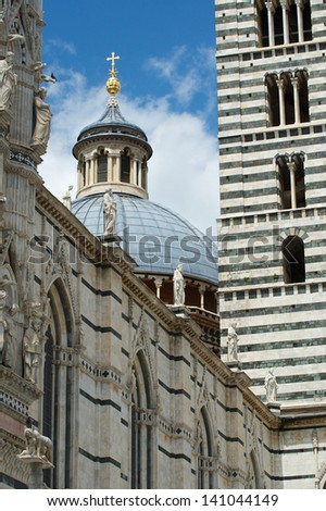 Cathedral (Duomo) in Sienna. - stock photo