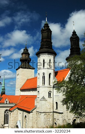 Cathedral from Visby city, Gotland, Sweden