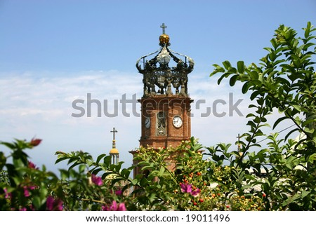 Cathedral Guadelope in Puerto Vallarta Mexico - stock photo