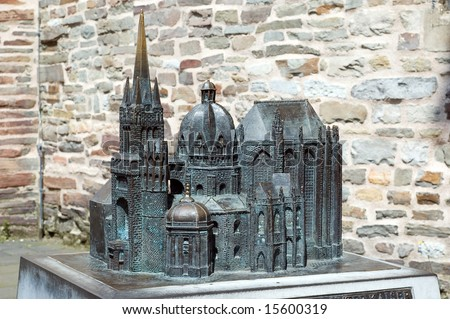 Cathedral in Aachen Germany model