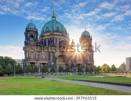 Cathedral in Berlin, Berliner Dom - stock photo