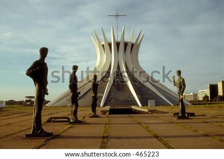 Cathedral in Brasilia, Brazil - stock photo