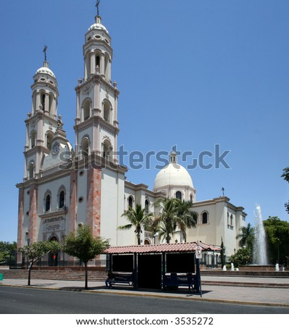 Cathedral in Culiacan, Sinaloa, Mexico - stock photo