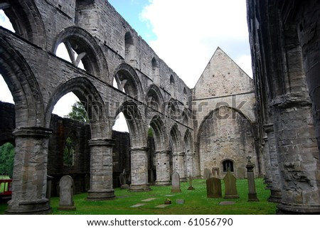Cathedral in Dunkeld - stock photo