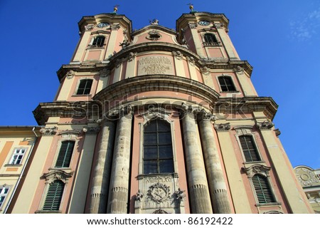 cathedral in eger (hungry) - stock photo