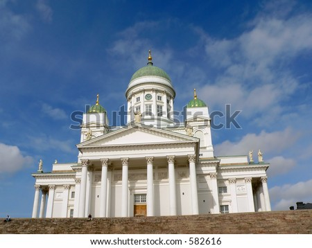 Cathedral in Helsinki, Finland. - stock photo