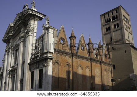 Cathedral in Mantua (Mantova), Italy