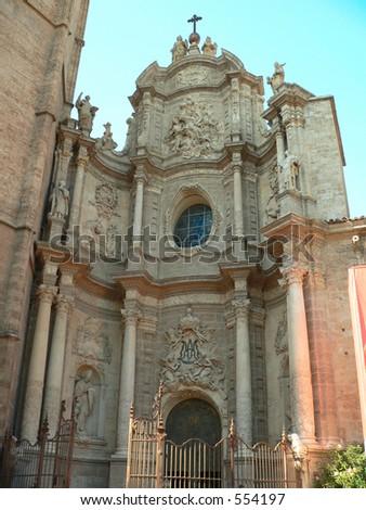 Cathedral in Plaza de la Reina, Valencia, Spain - stock photo