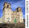 Cathedral in Puno - Lake Titicaca, Peru - stock photo