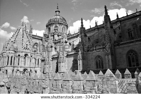 cathedral in Salamanca, Spain - stock photo