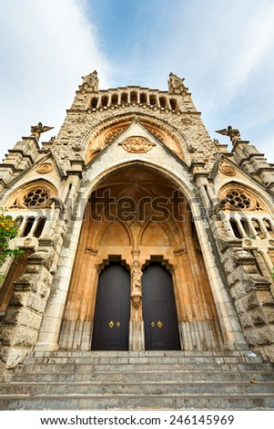 Cathedral in Soller, Mallorca, The Balearic Islands, Spain