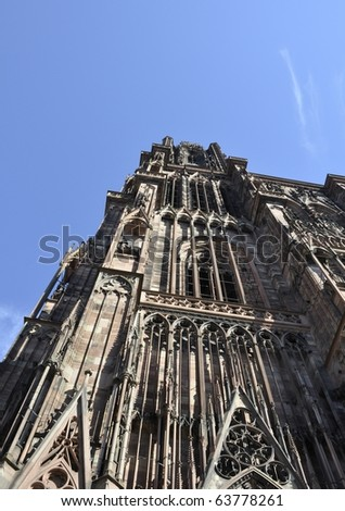 Cathedral in Strasbourg, Alsace France