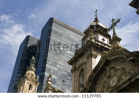 Cathedral in the center of Rio de Janeiro, Brazil - stock photo