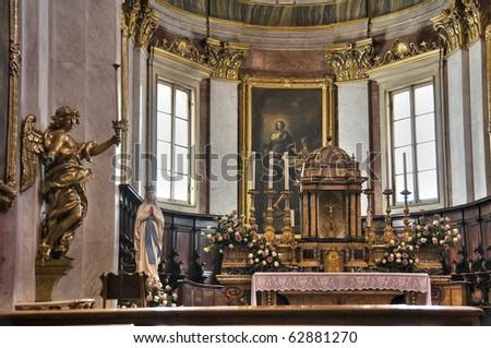 Cathedral Interior. Assisi. Umbria. - stock photo