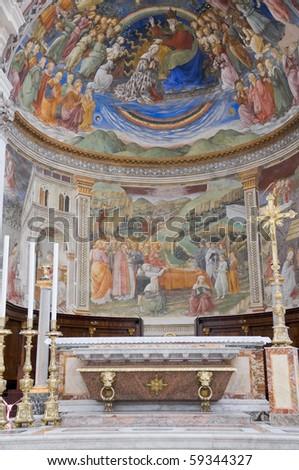Cathedral Interior. Spoleto. Umbria. - stock photo