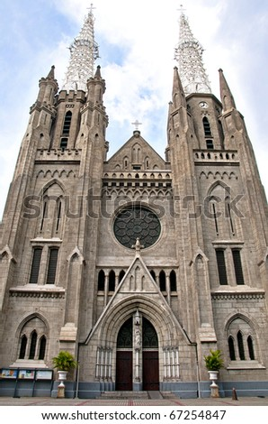 Cathedral Jakarta - stock photo
