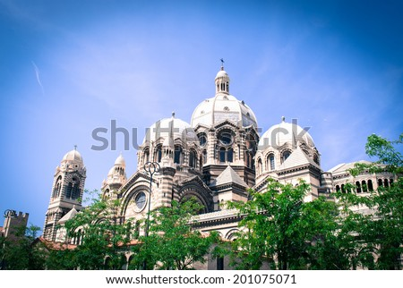 Cathedral major in Marseille, France - stock photo