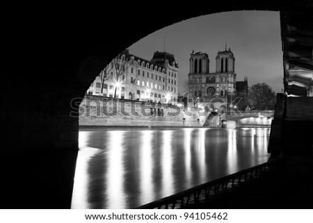 Cathedral Notre-Dame - Paris - stock photo