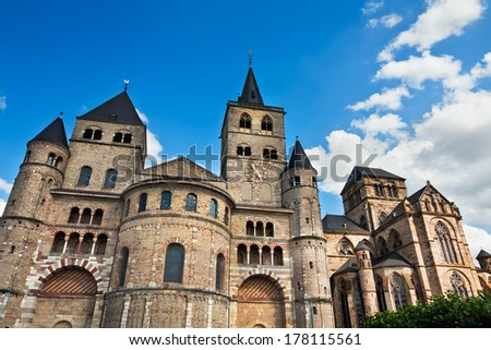 Cathedral of a city of Trier - the oldest Cathedral in territory of Germany - stock photo