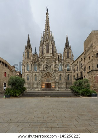 Cathedral of Barcelona - stock photo