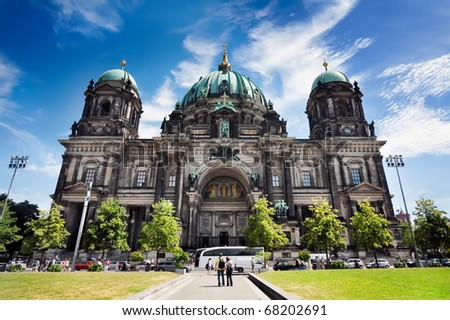 Cathedral of Berlin, Germany, Museum island - stock photo
