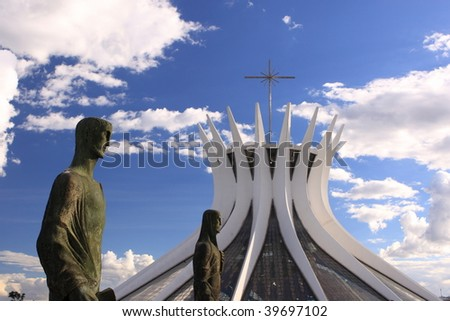 Cathedral of Brasilia - stock photo