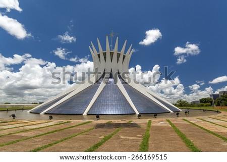 Cathedral of brasilia, Brazil - Brasilian capital  - stock photo