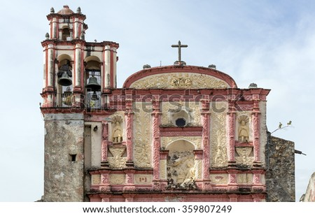 Cathedral of Cuernavaca, near Taxco, Mexico - stock photo