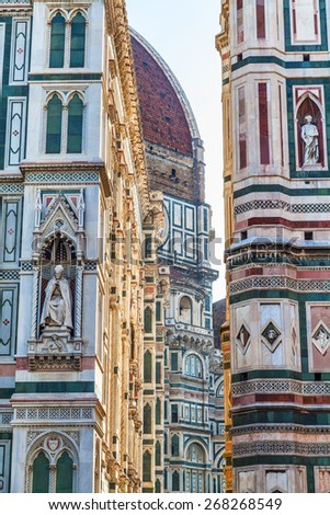 Cathedral of Florence detail. Italy