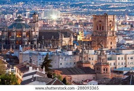 Cathedral of Granada, Granada, Andalusia, Spain - stock photo
