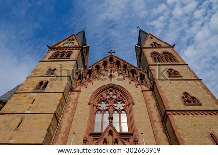 Cathedral of Heppenheim/Germany - stock photo