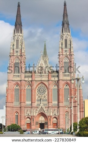Cathedral of La Plata is the 58th tallest church in the world - stock photo