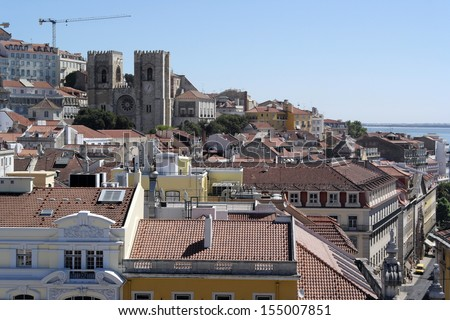 Cathedral of Lisbon, Lisbon, Portugal - stock photo