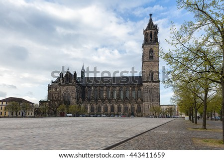 Cathedral of Magdeburg , Germany - stock photo